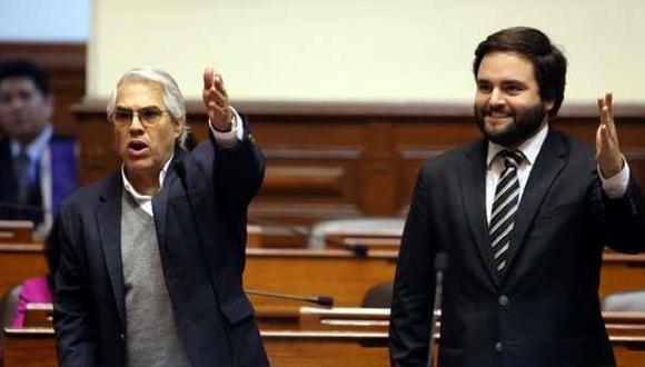 Gino Costa y Alberto de Belaunde postulan a la reelección con el Partido Morado. Foto: GEC