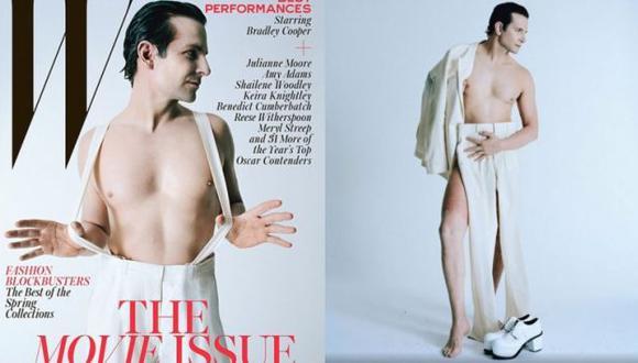 Bradley Cooper posó para revista. (W Magazine)