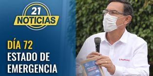 Día 72 de estado de emergencia: Presidente Vizcarra visita centro de aislamiento Villa Mongrut