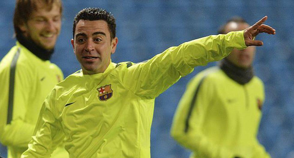 Xavi Hernández solo ha jugado por el Barcelona.  (EFE)