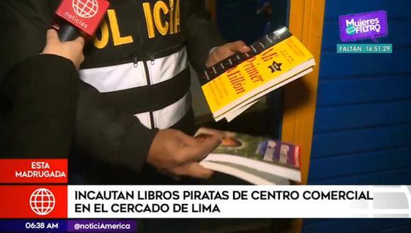 El fiscal David Tapia informó que estas operaciones continuarán con el fin de acabar con la piratería e informalidad. (Foto: Captura 'América Noticias')