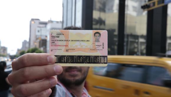 ¿Va a tramitar su licencia de conducir? (Foto: GEC)