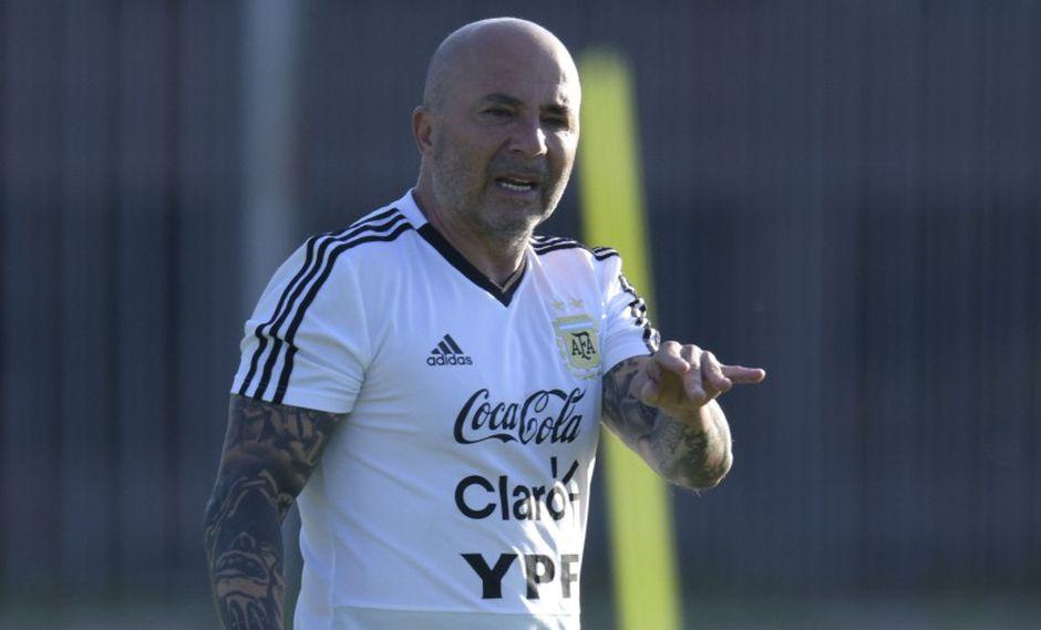 Jorge Sampaoli dejó el cargo de seleccionador de Argentina tras el Mundial de Rusia 2018. (Foto: AFP).
