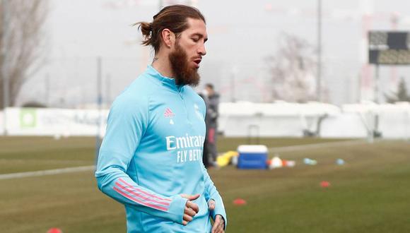 Sergio Ramos entrenó con todo el grupo de Real Madrid. (Foto: Real Madrid)
