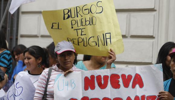 JUICIO POPULAR. Pobladores de San Juan de Lurigancho protestaron en las calles contra su alcalde. (Mario Zapata)