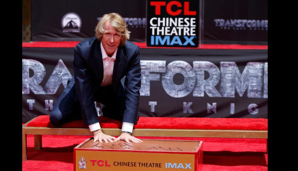Michael Bay dejó sus huellas en el 'Paseo de la Fama' de Hollywood (Getty Images)