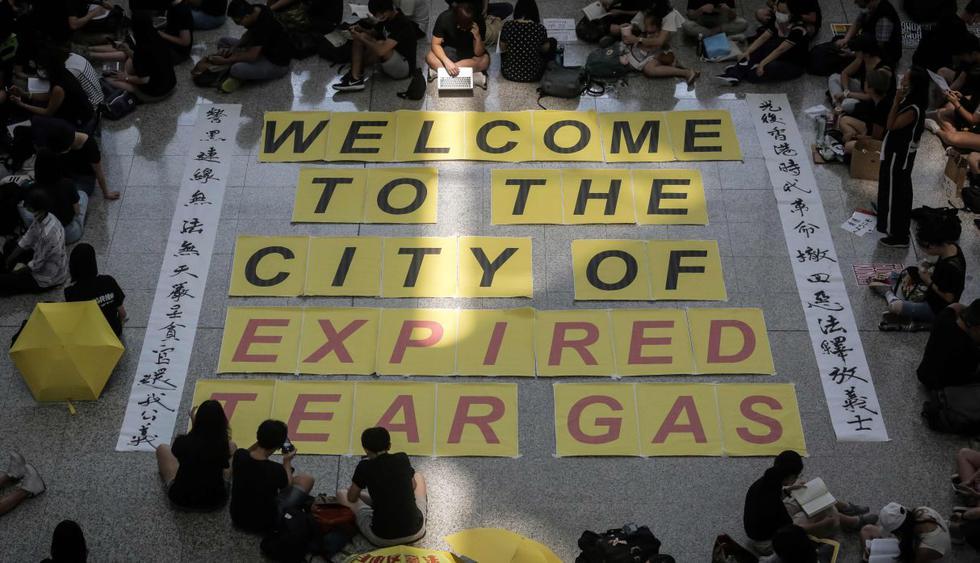 Hong Kong: Manifestantes mantienen la presión con nuevas movilizaciones. (Foto: AFP)