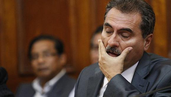 Julio Gagó se volvió a presentar ante la Comisión de Ética parlamentaria. (Luis Gonzales)