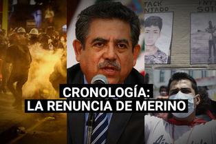 Manuel Merino: conoce la cronología de su renuncia a la presidencia