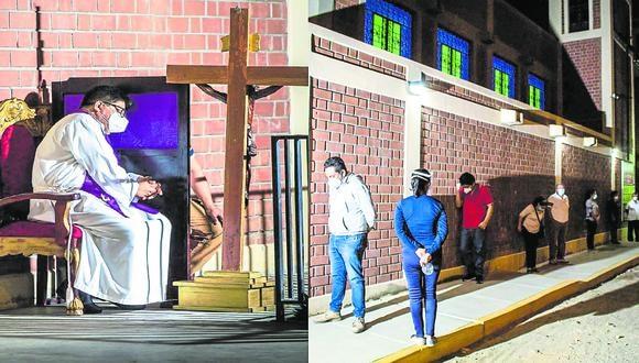 Piura: el padre anunció que el próximo viernes 18 las personas podrán confesarse en este mismo templo. (Foto. Difusión)