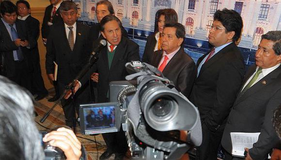 Toledo durante su última presentación en el Congreso. (Perú21)
