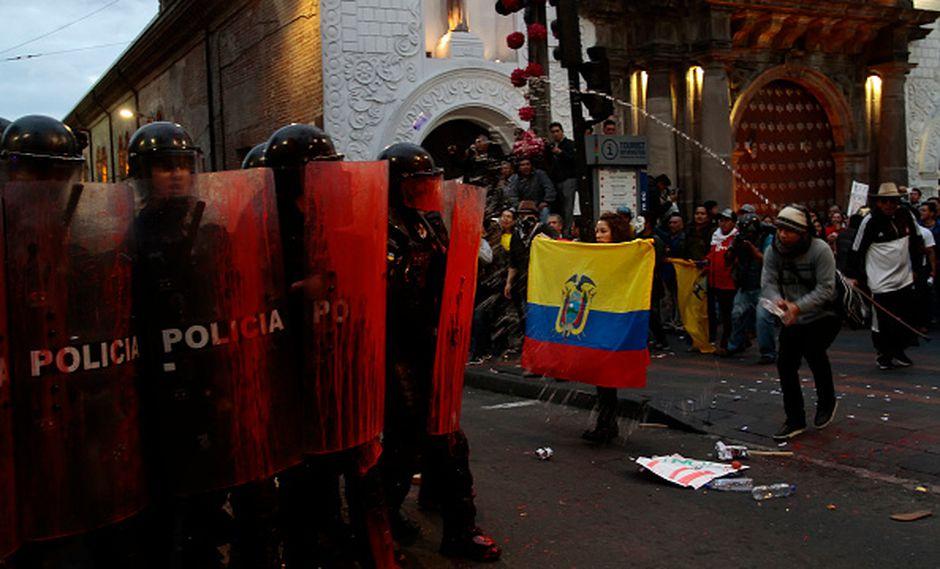 Protestas en Ecuador ante aumento del precio del combustible. (Foto: Getty Images)