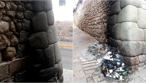 La Policía inició las investigaciones para identificar a los responsables de este atentado contra el patrimonio cultural en Cusco