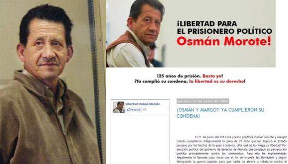 Osmán Morote difunde su propaganda terrorista en Internet. (USI)