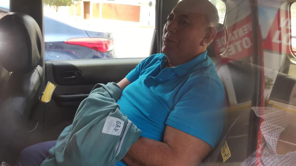 Al salir de la Fiscalía, Luis Torres pidió que voten por él este 9 de diciembre. (Ministerio Público)