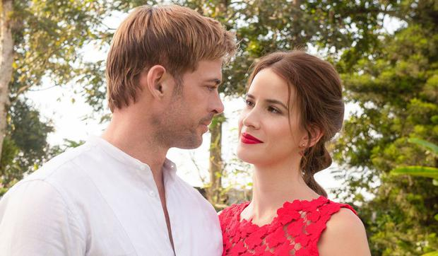 """""""Coffee with a woman's aroma"""" She stars William Levy and Laura Londoño, and has Carmen Villalobos as her antagonist (Photo: RCN Televisió)"""