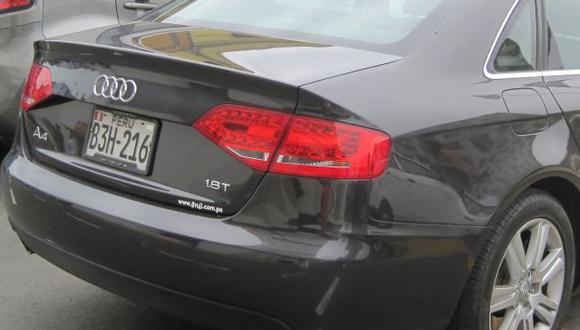 Lujosos. Velocidad de los Audi los hacen atractivos al hampa. (USI)