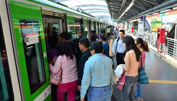 La AATE señaló que los pasajeros optan por trasladarse en la Línea 1 del Metro de Lima porque llegan de manera rápida a sus destinos. (Difusión)