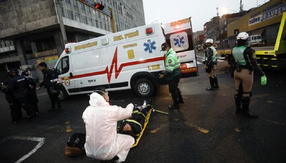 Fiscalizadora de la Municipalidad de La Victoria resultó herida tras accidente. (Foto: Joel Alonzo/ @photo.gec)