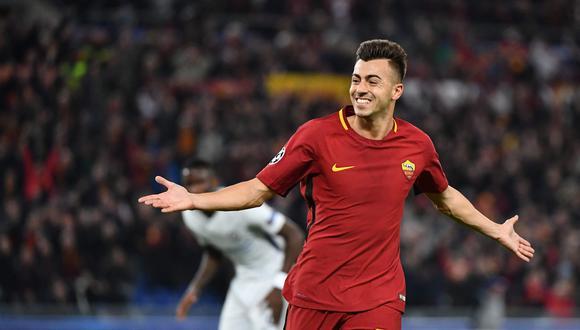 El atacante italiano de origen egipcio decreta el triunfo parcial de la Roma sobre Chelsea. (AFP)