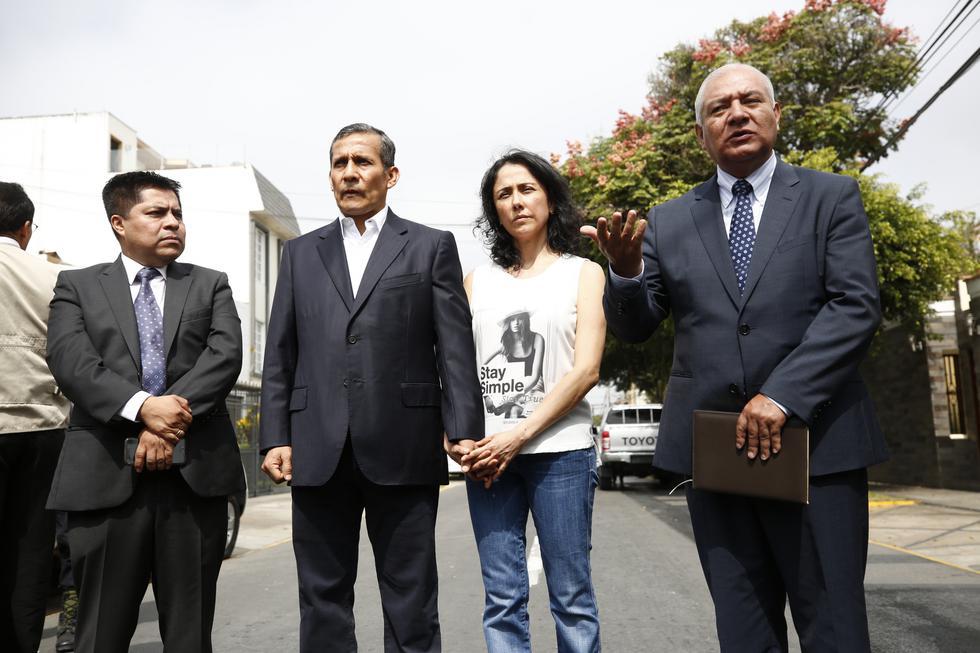 Nadine Heredia y Ollanta Humala. (Perú21)