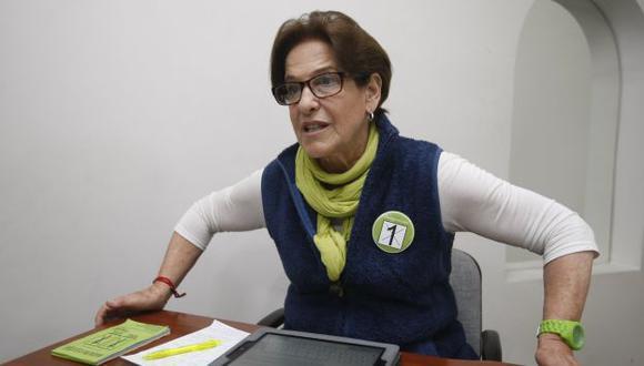 Susana Villarán no responde en base a opiniones de otras personas. (Mario Zapata)