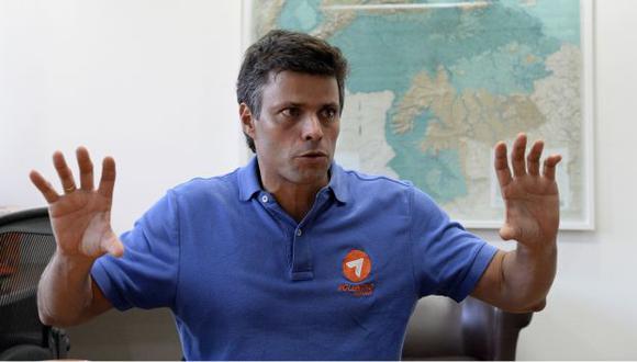 Leopoldo López dijo que no teme ir a la cárcel. (AFP)