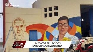 Chimbote: pintan mural en homenaje a médicos fallecidos por la COVID-19