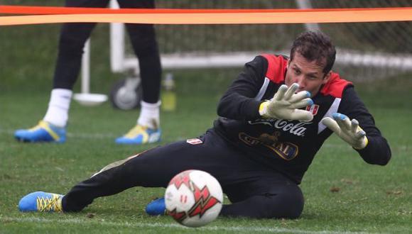 Leao Butrón fue llamado de emergencia ante la lesión de Pedro Gallese.  (Twitter FPF)