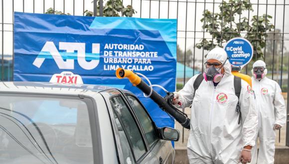 Durante Semana Santa los taxistas podrán desinfectar gratuitamente sus vehículos en 4 distritos. (Foto: ATU)