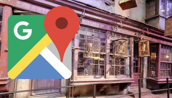 Google Maps tiene una entrada secreta para poder ver el callejón Diagon, de los libros de Harry Potter. (Foto: Google)