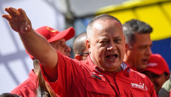 El número 2 del chavismo, Diosdado Cabello, en una imagen del 27 de febrero del 2020. (Foto: Federico PARRA / AFP).