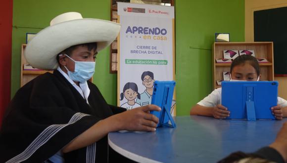 Ejecutivo planea culminar la entrega de tabletas a escolares y docentes del país a fines de marzo del 2021. (Foto: Minedu)