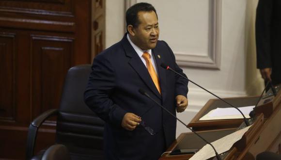 Bienvenido Ramírez ataca al ministro Carlos Basombrío durante la interpelación (Mario Zapata)