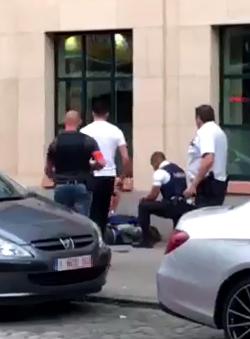 Ataque en el centro de Bruselas (AFP)