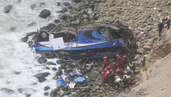 El accidente viene cobrando una decena de víctimas mortales. (Perú21)