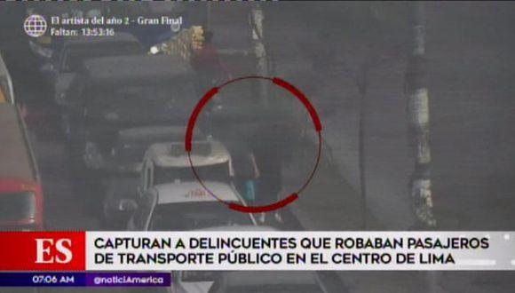 Delincuentes fueron detenidos en el Cercado de Lima. (Foto: América TV)