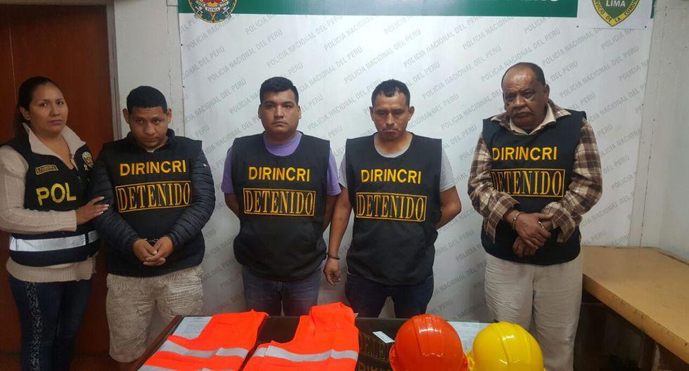 Banda 'Los magníficos de Chorrillos' fueron detenidos ayer en Chorrillos. (PNP)