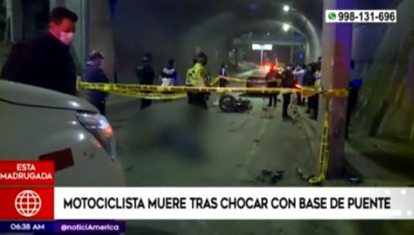 El hombre retornaba del trabajo a su casa cuando se produjo el lamentable accidente. Foto: captura América Noticias