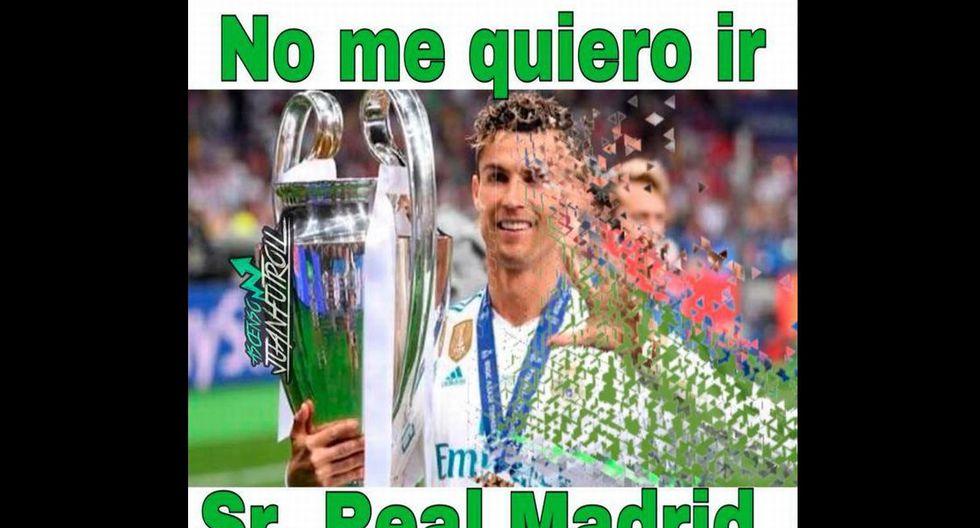 Cristiano Ronaldo ganó cuatro Champions League con el Real Madrid. (Facebook)