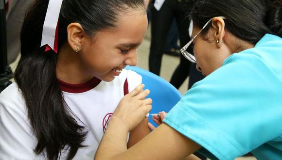 El Minsa detalló que son 12 millones de soles lo que se ha invertido para inmunizar a las niñas. (GEC)