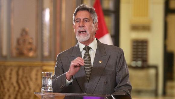 Francisco Sagasti cerró la CADE Ejecutivos de manera virtual. (Foto: Presidencia)