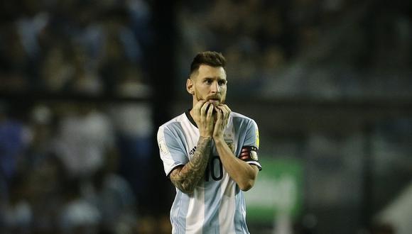 Messi devastado tras el partido ante Perú. (Reuters)
