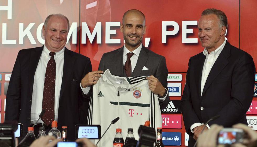 El Pep Guardiola fue presentado hoy como el nuevo entrenador del Bayern Múnich. (EFE)