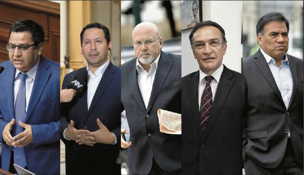 En la lista. Vásquez, Flores, Bruce, Becerril y Velásquez fueron incluidos en el informe de Carrasco. (GEC)