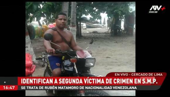Los restos del ciudadano extranjero permanecen en la morgue de Lima. (Foto: Captura ATV)