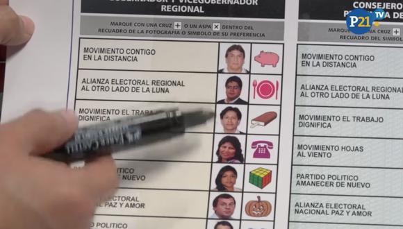 ¿Cómo debes marcar la cédula para no considerarse un voto nulo? (Perú21)