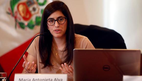"""""""Es importante para mí mantenerme en el sector público. Ya sea en el Estado o en un organismo internacional"""", dijo la ministra María Antonieta Alva. (Foto: EFE)"""