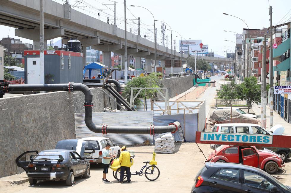 HOY. Cuadra 12 de la Av. Los Próceres, epicentro del aniego, sigue cerrada.(Eduardo Cavero)