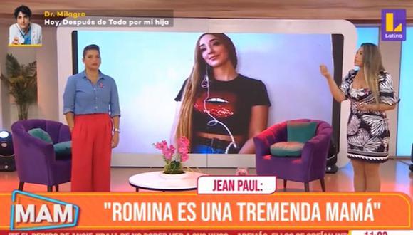 """Jean Paul Santa María sobre Romina Gachoy: """"Es una tremanda mamá"""". (Foto. Captura)"""
